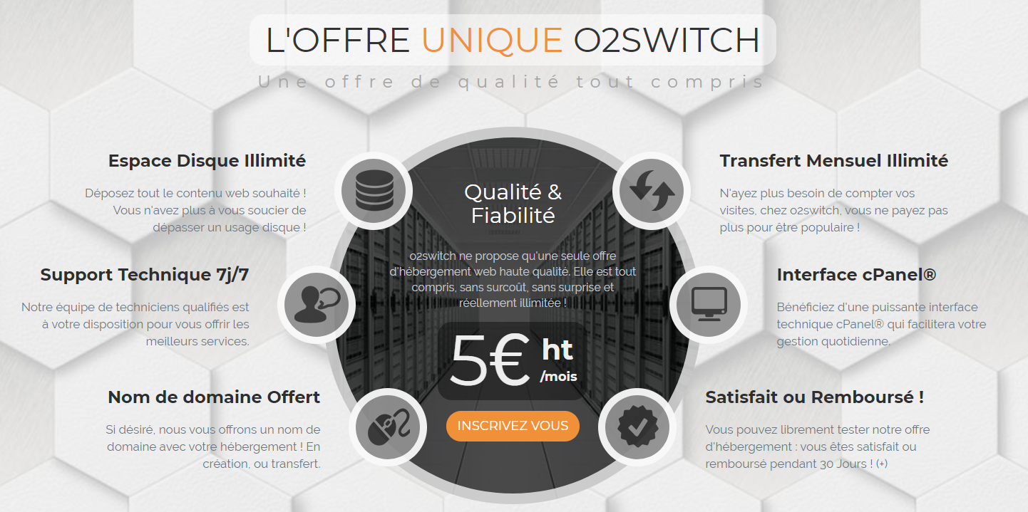 o2switch tarifs