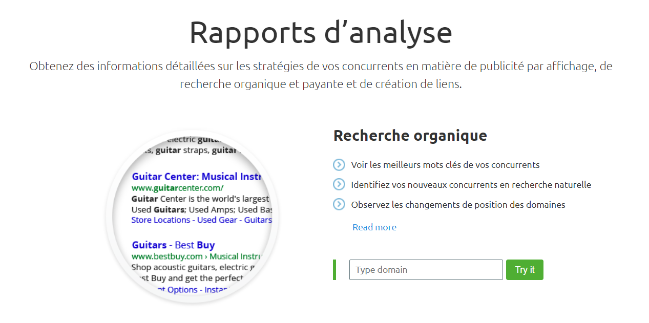 semrush rapport analyse